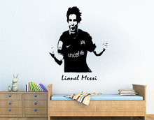 Personalised Lionel Messi Barcelona Football Sport Vinyl Wall Art Sticker custom any name Decal Wall Mural home decoration