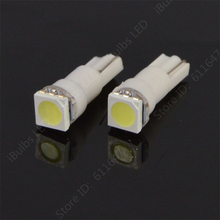 100pcs Super Bright T5 74 W1.2W 1 SMD 5050 LED Car Auto Car Auto Interior Dashboard Wedge Lights Lamp Bulb DC12V(China)