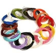 New ! 1mm Genuine Leather Rope 16 colors 5meter Real Leather Rope String Cord for Clothes and Shoes Jewlery Making Materials