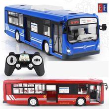 2017 New 2.4G Remote Control Bus Car Charging Electric Open Door RC Car Model Toys For Children Gifts RC16(2)(China)