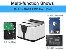 "Clone SATA hdd docking station hdd docking station 2.5""3.5""external hdd case USB 3.0 hdd bay external hard drive ssd box"