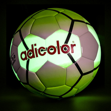 Green Adicolor Luminous Football Night Light Noctilucent Soccer Ball Children Game Train Balls Men Women Glowing Soccer Size 5(China)