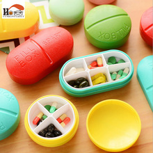 CUSHAWFAMILY Portable 6/4 Slots seal folding Pill Cases Jewelry candy Storage Box Vitamin Medicine Pill Box Case Container