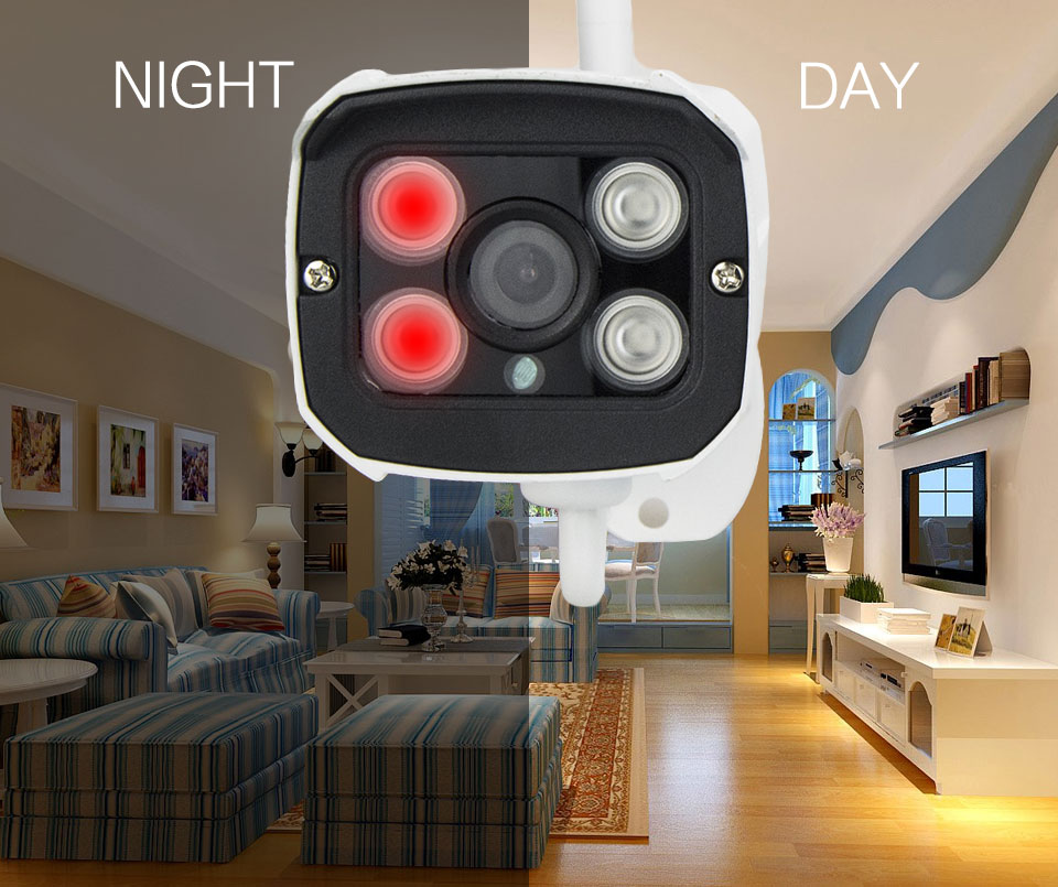 Wireless outdoor WiFi Camera 1080P HD 2.0MP CMOS Security CCTV IP Camera Alarm system For WiFi  alarm systems home  security P2P