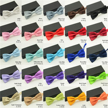 2018 High Quality Mens Solid Bow Ties Fashion Accessories for Wedding suits Groommen Suits 1 Piece Packed(China)
