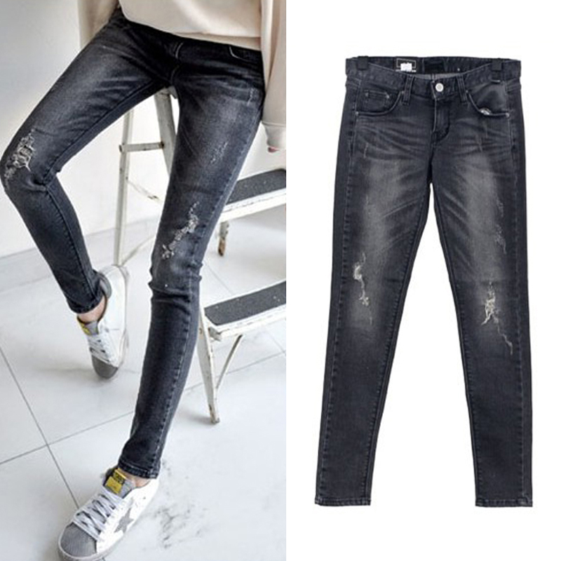 Autumn And Winter New Women Jeans Slim Elastic Harlan Trousers Waist Jeans Full Length stretch jeans Fashion Trousers Plus SizeОдежда и ак�е��уары<br><br><br>Aliexpress