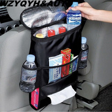 High Quality Universal Auto Back Car Seat Organizer Holder Multi-Pocket Travel Storage Keep Warm Multi-Pocket Hanging Bag(China)