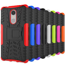 "For Lenovo K6 note Case 5.5"" Luxury Hybrid TPU Shock Proof Silicone + Hard Phone Case For Lenovo K6 note Case Back Cover Skin"
