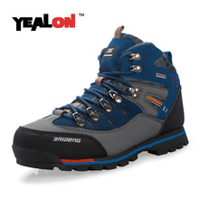 Buy YEALON New Men Waterproof Hiking Boots High Top Camping Mountain Climbing Shoes Outdoor Sports Trekking Sneakers Breathable Warm for $40.67 in AliExpress store