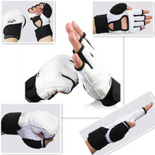 Taekwondo gloves WTF approve PU leather adult kids MMA Boxing glove karate martial arts kung fu protector Wing Chun hand guard(China)