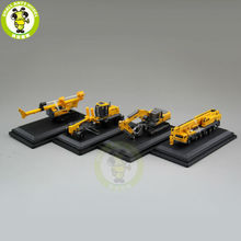 1/87 XCMG Excavator Crane Motor Grader Rotary Drilling Rig Diecast Model Four in One