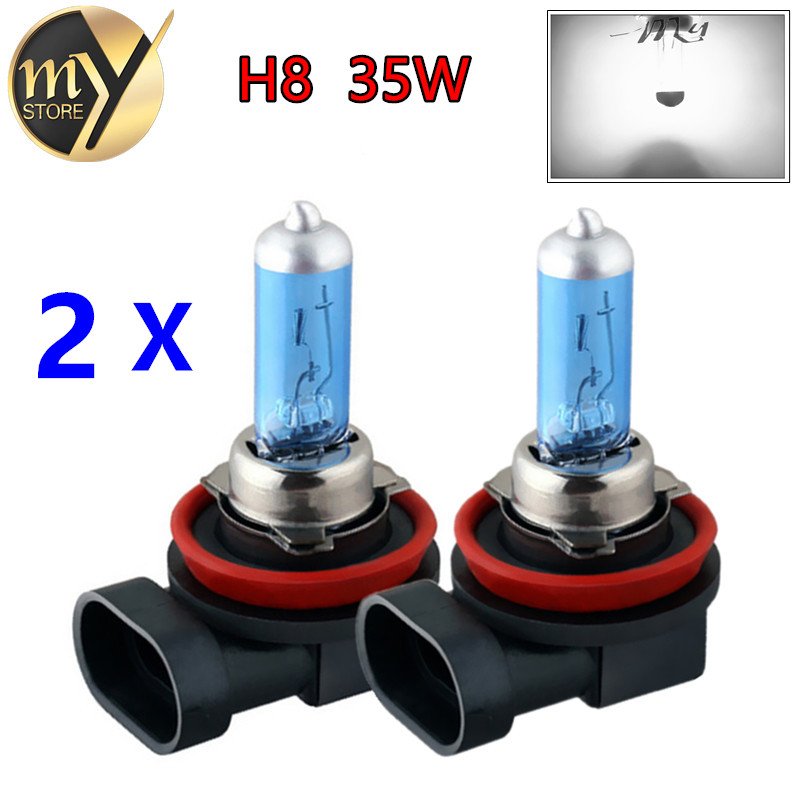 2pcs H8 35W Halogen Bulbs super white Headlights fog lamps day light running Car Light Source parking 6000K 12V High Power<br><br>Aliexpress