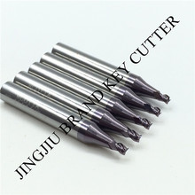 End milling cutter 2.5mm in carbide for Wenxing vertical key cutting machine(5pcs/lot) by China post