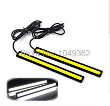 17cm Waterproof COB LED Car DRL Daytime Running Light Bar Driving Fog Parking Lamp White/Blue Auto Lights Source 2pcs/Pair