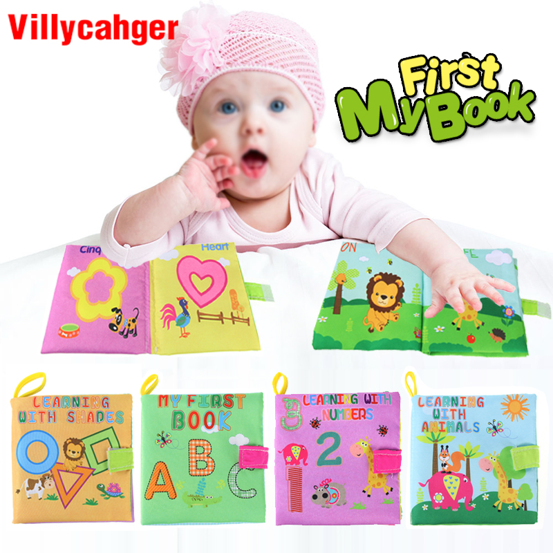 0-3 Years Vegetable Cognition Baby Cloth Book  Early Learning Animals Tails