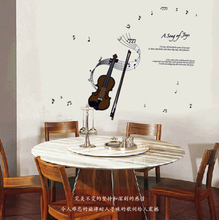 Free shipping 2015 Children in kindergarten classrooms violin music note piano room wall stickers QT033-AY7180