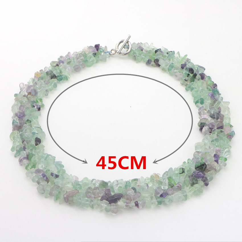2 Natural Gravel Necklace sister necklace women necklace ladies necklaces family necklace (3)
