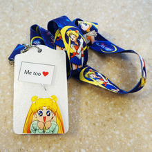 New Arrival 1pcs Cartoon Staff ID Card Case Holder Lanyards ID Work Badge Holder with Printed Neck Lanyard