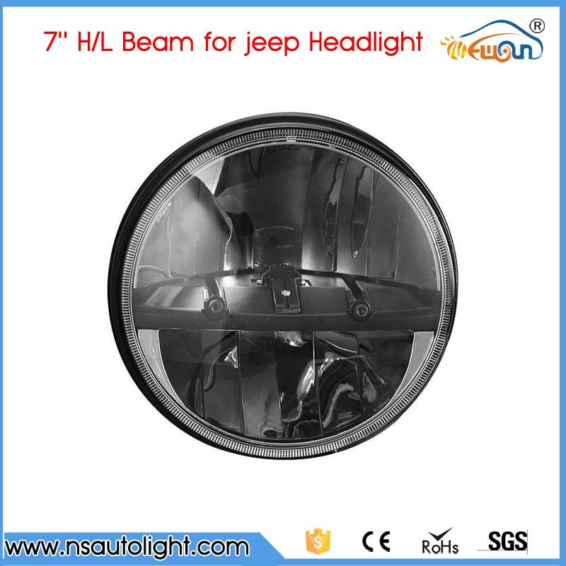 Pair plug and play high low beam round 7inch 20w led headlight with DRL H4 H13 for wrangler TJ LJ JK, CJ-5, CJ-7, CJ-8 Scrambler<br><br>Aliexpress