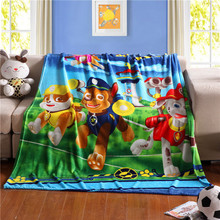 Cartoon Pawed Puppy la Patrulla Canina Patrolling Plush Flannel Blanket Throws Bed/Sofa/Air Cover Kid's Child BedSheet Kitty