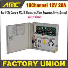 CCTV Power Box 18 Channel 12V 20A CCTV Camera PTZ IR Illuminator Access Control for 18CH DVR CCTV Camera Power Supply