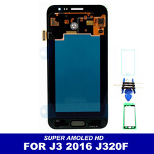 Tested Super AMOLED LCD Display For Samsung Galaxy J3 2016 J320 J320A J320F J320P J320M J320Y J320FN Screen Touch Digitizer
