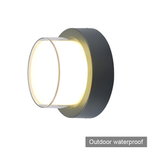 2 pieces round button modern brief style LED wall light lamp sconce outdoor waterproof decorative outdoor LED wall light fitting(China)