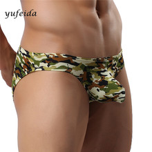 Buy Sexy Men Camouflage Briefs Breathable Low-Rise Sexy Strong Men's Convex Underwears Men Underpants Shorts Sleepwear