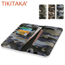 Universal Mobile Phone Cases For Iphone 7 6 5 Cover Fashion Camouflage Stand Wallet Leather Flip Case For Samsung Xiaomi Huawei(China)