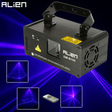 ALIEN Remote DMX512 150mw Blue Laser Scanner DJ Disco Beam Stage Lighting Effect Blue Laser Projector illumination Show Light