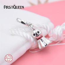 FirstQueen High Quality Asian Sunny Doll Halloween Charms Pendant Fit Brand Bracelet charmes pour la fabrication de bijoux(China)