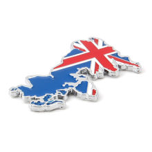 BBQ@FUKA Car UK Britain England Flag Emblem Car Door Rear Side Stickers Badge Decal Car Styling Stickers Fir For Universal(China)
