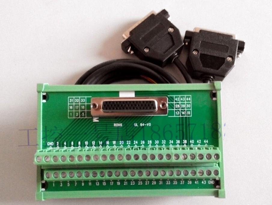 ASD-MDDS44 Terminal station 44pin with 1m CN1 cable for Delta ASDA-B2 servo motor driver<br>