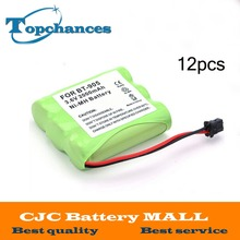 12 pcs 3.6v 2000 mAh NI-MH Phone Battery for Panasonic KX-A36 P-P501 for Uniden BT-905 free shipping