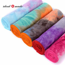 Custom logo supported tie dye printed towel for yoga fitness Idealmade company