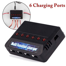 DC 3.7V 450MAH Black Mobile Charger With SIX Port with Blue Label RC For X5C