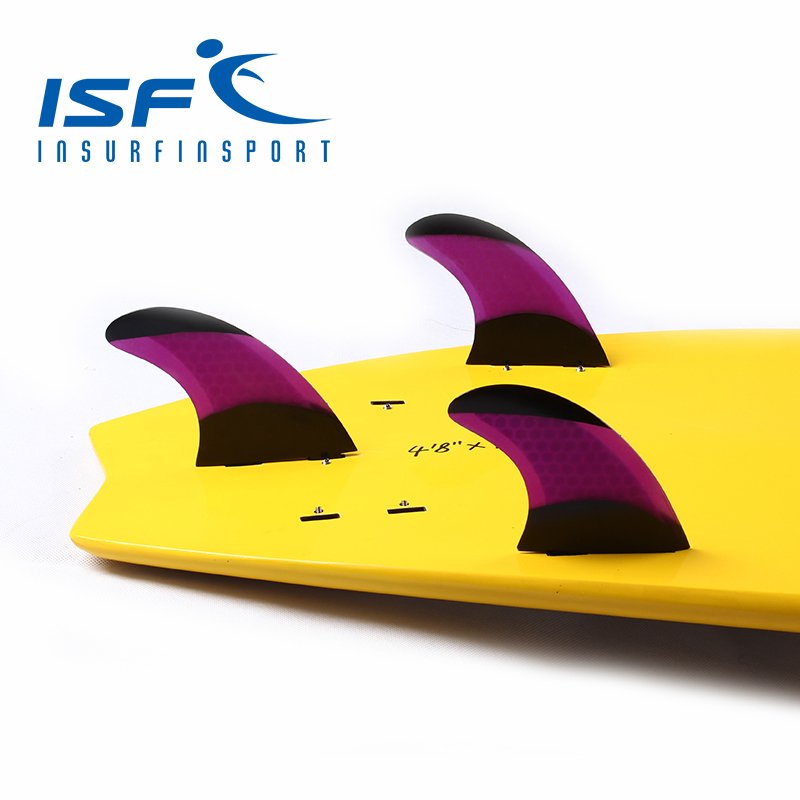Purple Surfboard Fins quilhas prancha de FCS Fins/Surf fin With Black Paint<br>