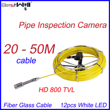 FREE Shipping 20-50M cable Sewer Pipe Inspection Camera HD 800 TVL with Fiber Glass Cable