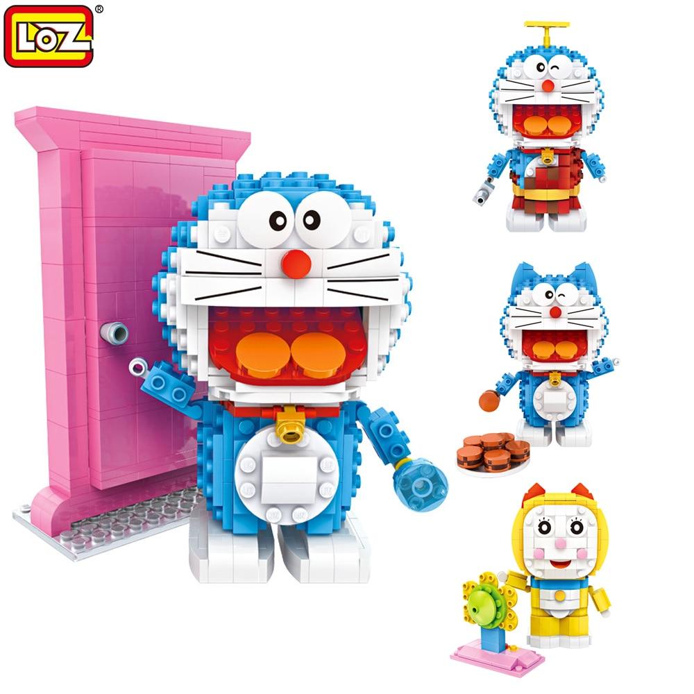 LOZ Doraemon Toys Figures Model Blocks Prehistoric Classic Doraemon Civet Cats Dorami Christmas Education Toys Gift For Children<br><br>Aliexpress