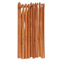 12 Размер 15 см крючком Крючки Bamboo Вязание Вышивка Крестом Иглы вязать ткань Пряжа ремесел DIY Вязание Инструменты 3 мм-10 мм(China)
