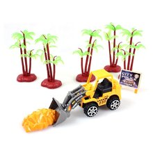 Artificial Model Toy Car Mini Construction Vehicle Engineering Car Machine Shop Truck Dump Truck Tractor Gift Toys for Children