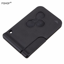 FGHGF Remote Car Key 3 Buttons Replacement Key Card Shell Case Cover for Renault Clio Megane Grand Scenic