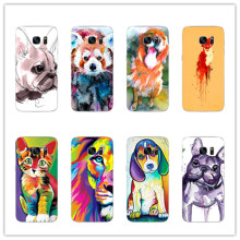 French Bulldog Lion Tigers Cover case for samsung galaxy S8 S8plus S7 S6 Edge s5 A5200 A7200 2017 A5100 A7100 A2016 phone cases(China)