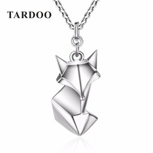 Tardoo Cute Fox Folding Anmial On Sale Necklaces & Pendants for Women 925 Sterling Silver Lovely Style Silver Jewellery(China)