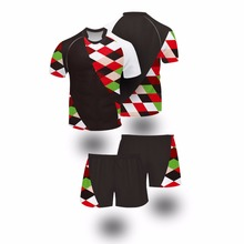 2017 Wholesale Custom Rugby Ball Training Wear Sublimation Profit Rugby Jerseys New Zealand Tight Fit Rugby jersey for Men Women(China)