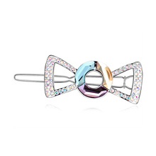 Romantic Crystal Bowknot Hair Clip Jewelry Made with Genuine Crystals from SWAROVSKI Hair Accessories Barrettes Hairpins(China)