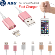 2.4A Fast Micro USB Metal Lighting Magnetic Charger Cable Magnet Nylon/PVC Power Adapter Data Cables For Samsung Android iPhone