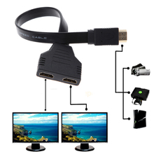 Brand New 1080P HDMI Male to 2 Female 1 In 2 Out Splitter Cable Adapter Converter for HDTV LCD Monitor Projectors