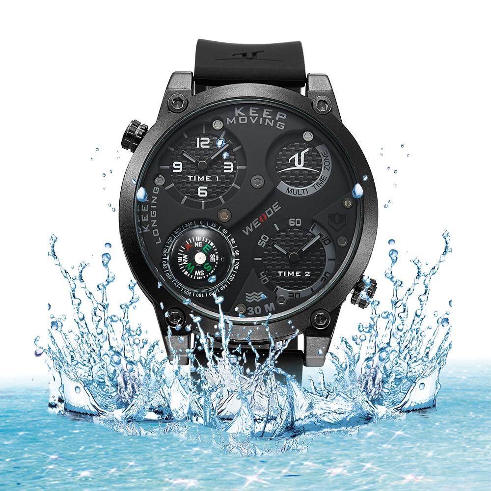 WEIDE Watches Men Luxury Brand Famous Large Dial Compass Military Sports Watch Men Quartz Wristwatch Clock Male Relogio UV1505<br>
