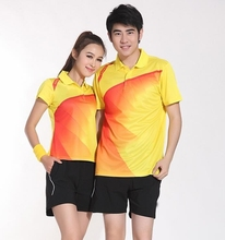 Free shipping Men Badminton shirts Jersey,Table tennis shirt clothes polyester breathable,quick-drying ping pong shirts